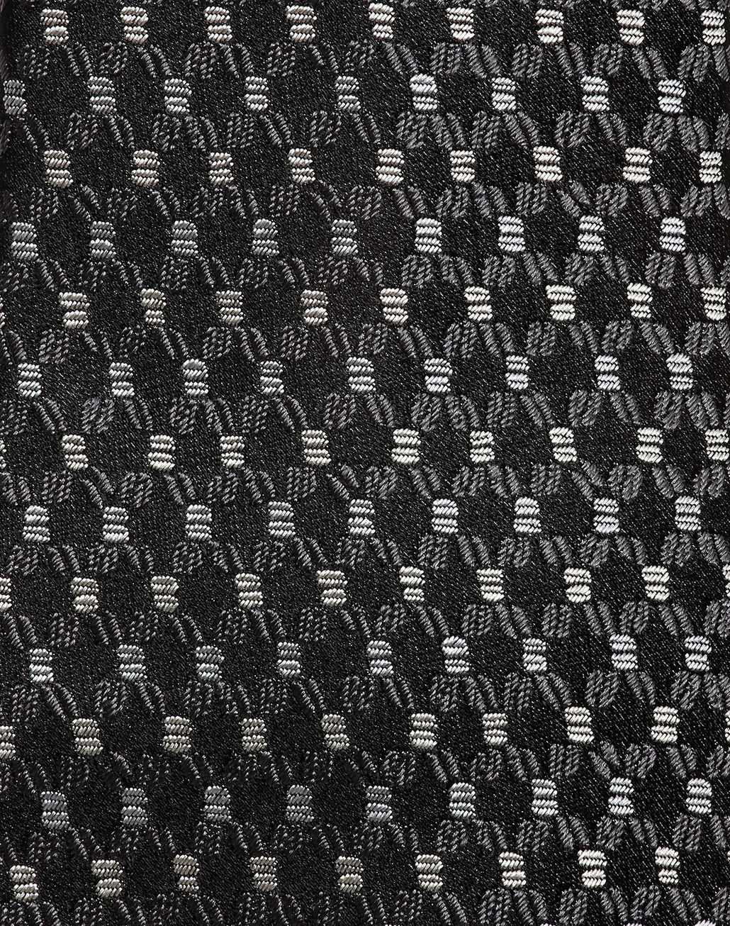 BRIONI Schwarze Flanellkrawatte mit kleinem Muster Krawatte [*** pickupInStoreShippingNotGuaranteed_info ***] d