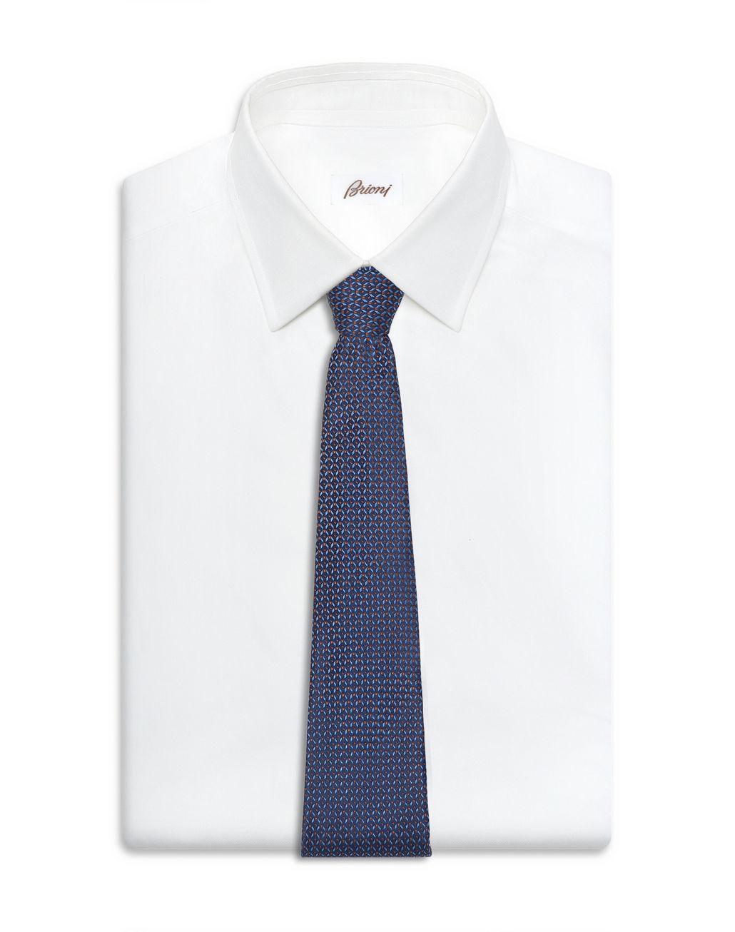 BRIONI Cravate en dégradé bleu à motif Cravate [*** pickupInStoreShippingNotGuaranteed_info ***] d