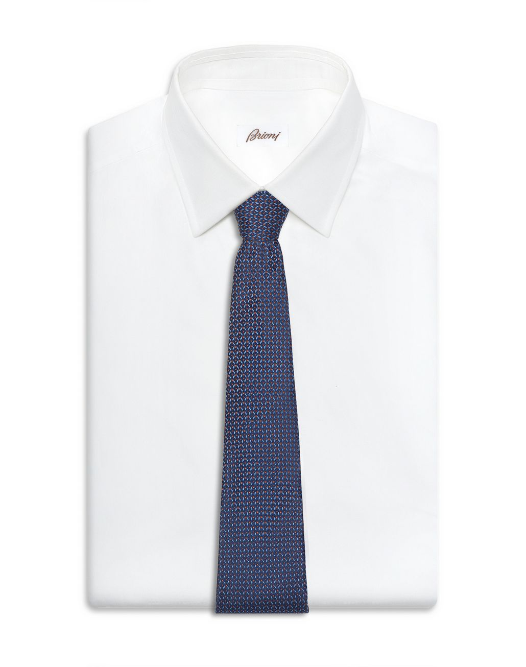 BRIONI Синий узорчатый галстук с эффектом деграде Галстук [*** pickupInStoreShippingNotGuaranteed_info ***] d