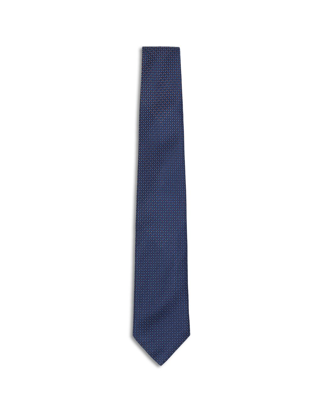 BRIONI Синий узорчатый галстук с эффектом деграде Галстук [*** pickupInStoreShippingNotGuaranteed_info ***] f