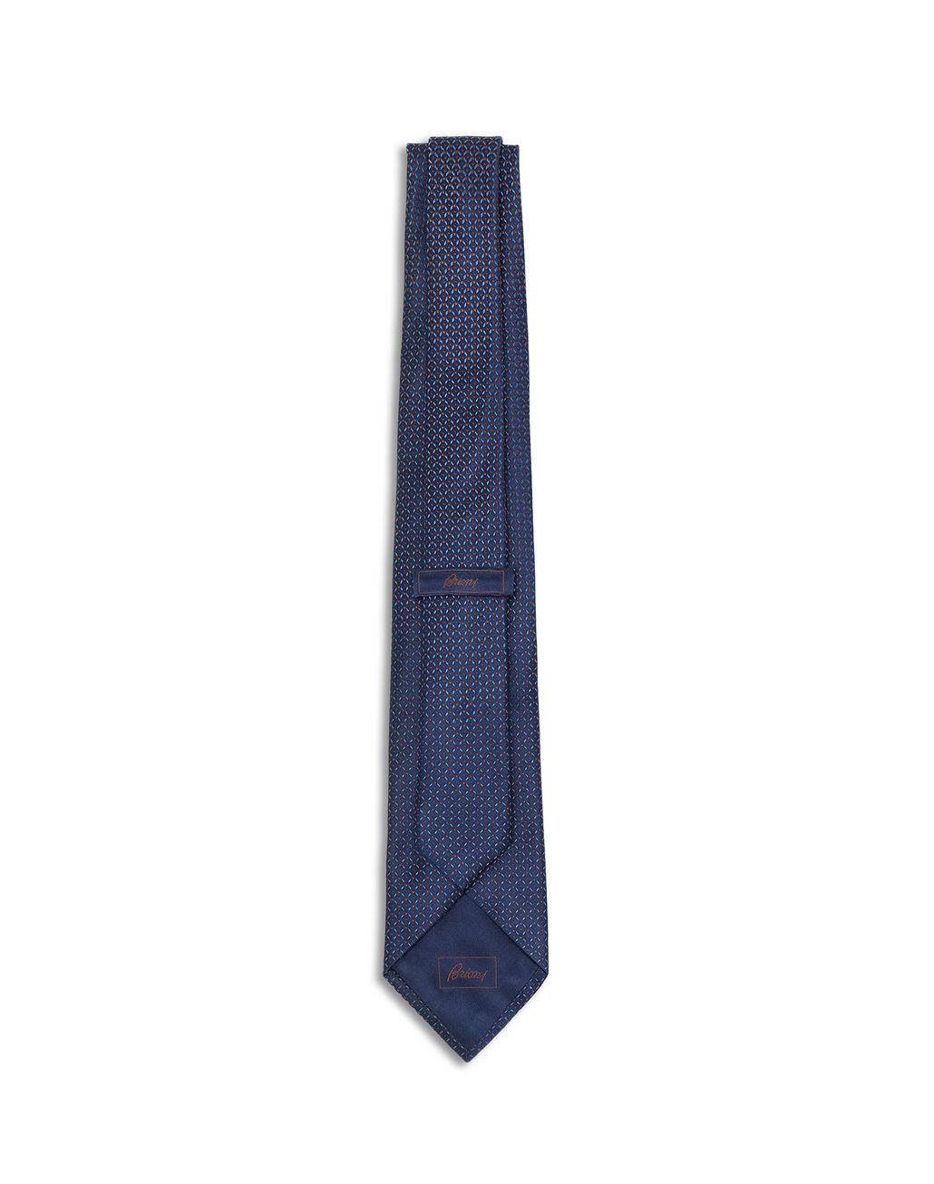 BRIONI Синий узорчатый галстук с эффектом деграде Галстук [*** pickupInStoreShippingNotGuaranteed_info ***] r