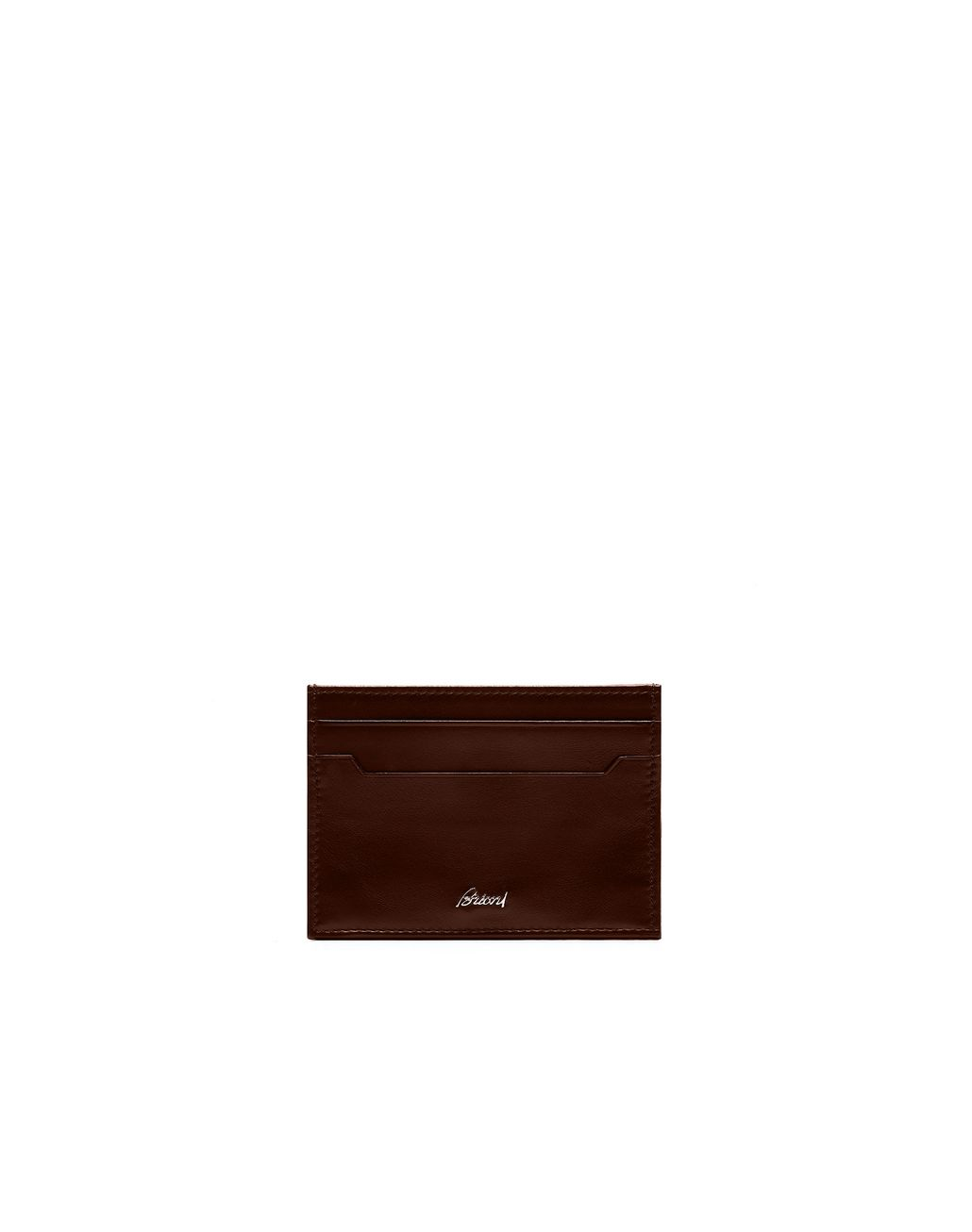 BRIONI Dark Brown Credit Cards Holder Card Cases & Coin Purses Man f