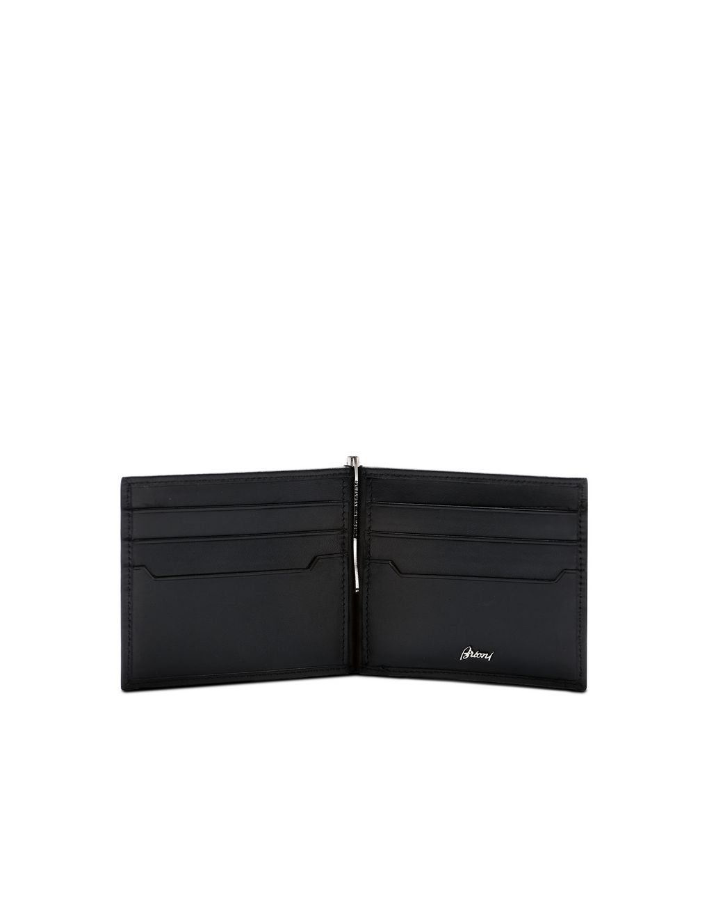 BRIONI Black Clip Wallet Wallet [*** pickupInStoreShippingNotGuaranteed_info ***] d