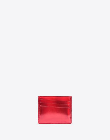 MAISON MARGIELA Credit card holder Man High-risk red leather cardholder f
