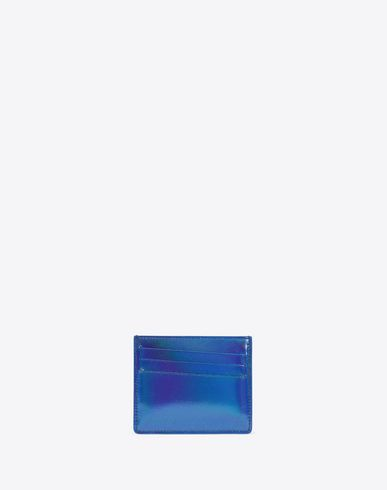 MAISON MARGIELA Credit card holder Man Nautical blue leather cardholder f