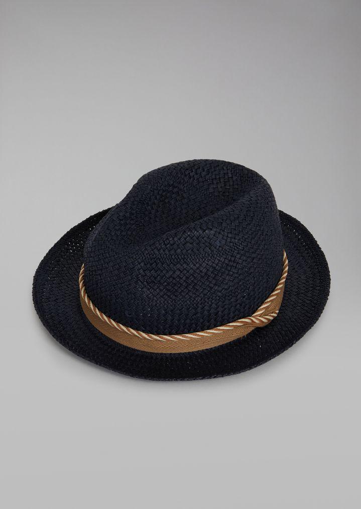 ffc5a27abc Hat in woven paper with cord | Man | Giorgio Armani