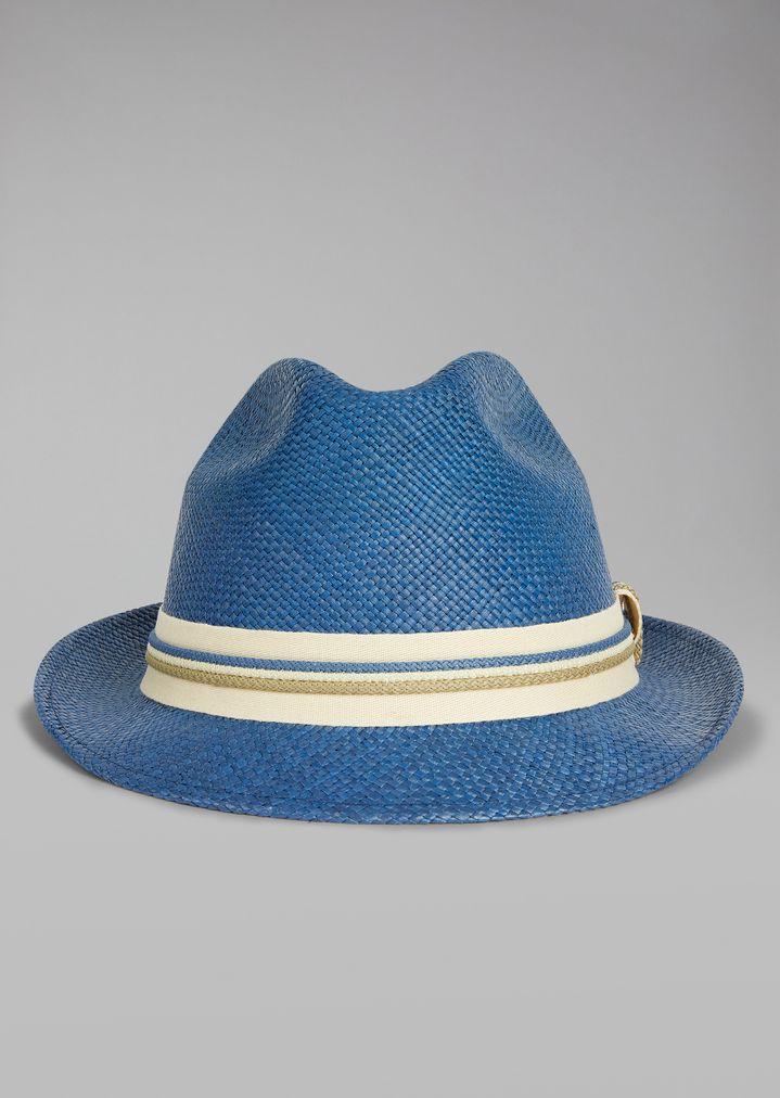 Straw hat with canvas insert  5c4decdce43