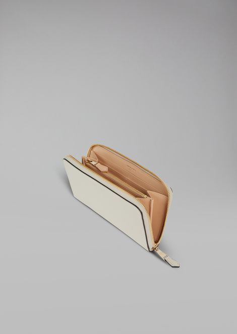 Portemonnaie aus glattem Leder