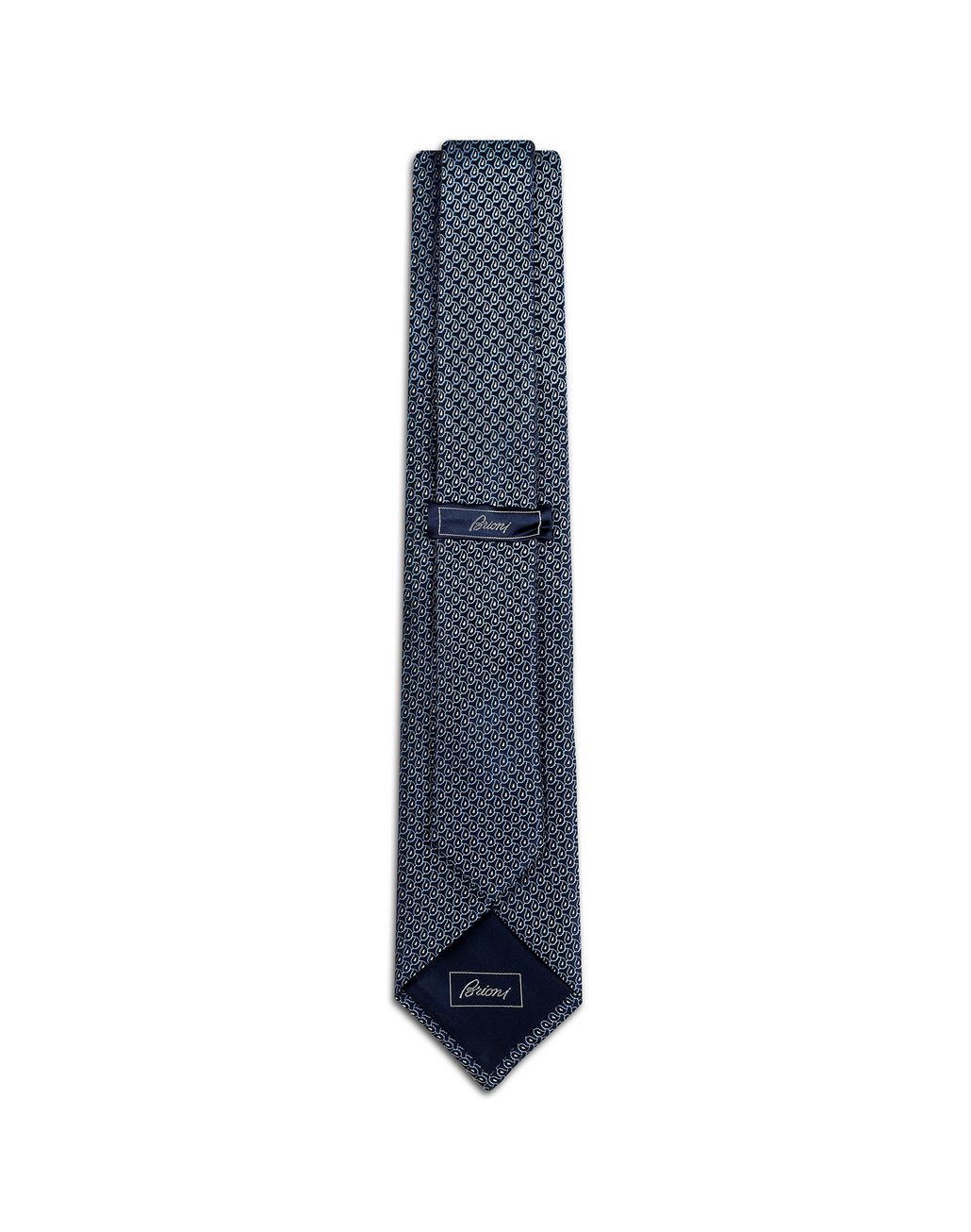 BRIONI Midnight Blue Degradé Tie Tie Man r