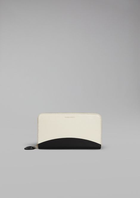 Leather and Patent Leather Wallet