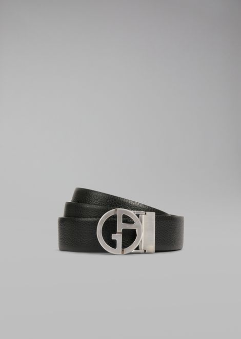 Micro pattern leather belt