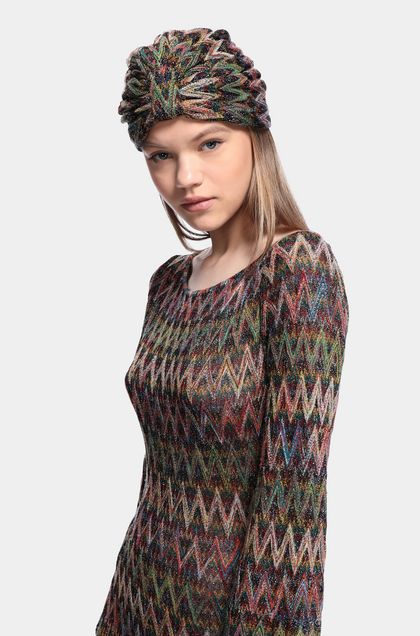 MISSONI Turban Maroon Woman - Back