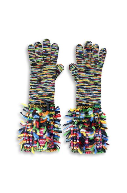 MISSONI Gloves Light green Woman - Back