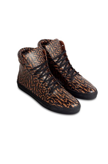 MISSONI Baskets Rouille Homme - Devant