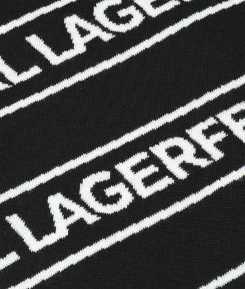KARL LAGERFELD WOOL LOGO SCARF
