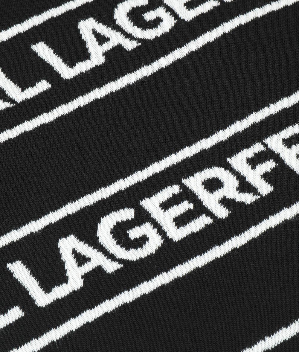 KARL LAGERFELD WOOL LOGO SCARF Scarf Woman r