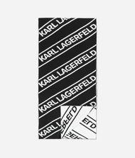 KARL LAGERFELD WOOL LOGO SCARF 9_f