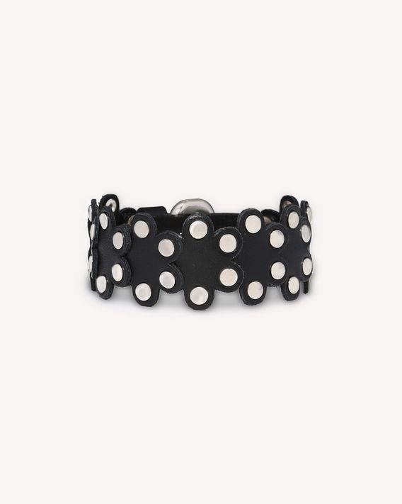 REDValentino FLOWER PUZZLE LEATHER BRACELET