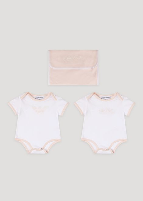 Baby gift set with two Emporio Armani vests
