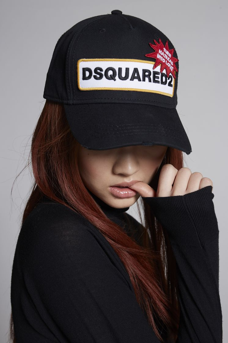 Dsquared2 D2 Patch Baseball Cap Black - Ankle Sock ... ffb9715842f