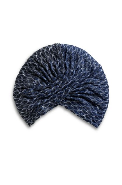 MISSONI MARE Beachwear turban Blue Woman - Back