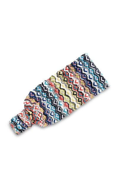 MISSONI MARE Beachwear head band Turquoise Woman - Front