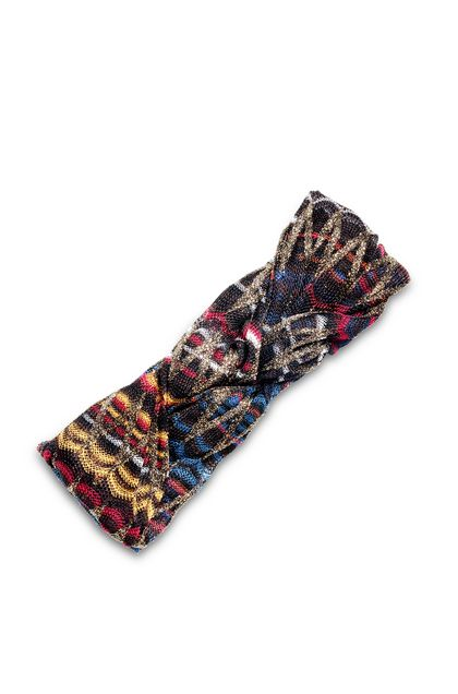 MISSONI Head band Dark brown Woman - Front
