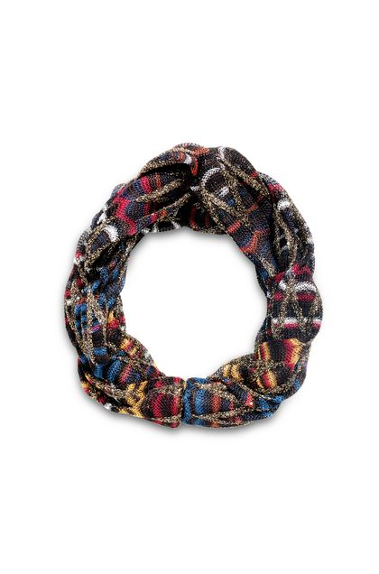 MISSONI Head band Dark brown Woman - Back