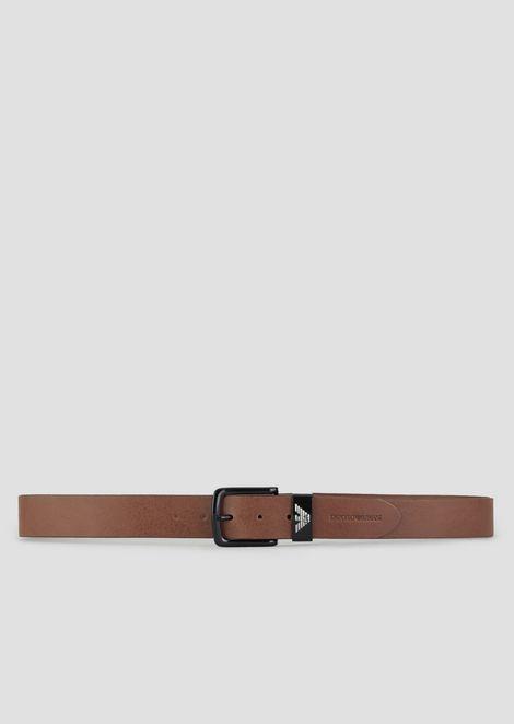 Full-grain leather belt