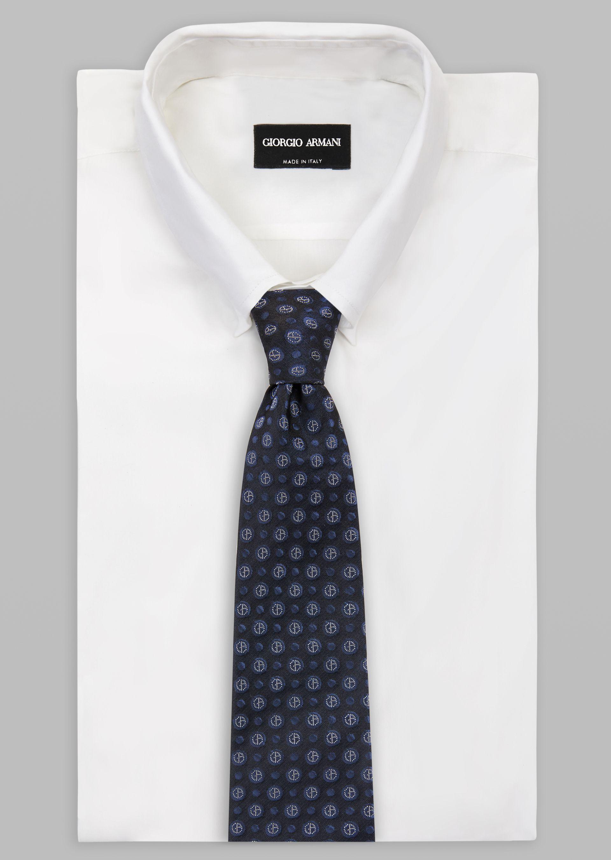 GIORGIO ARMANI ネクタイ シルク製 ジャカードロゴモチーフ