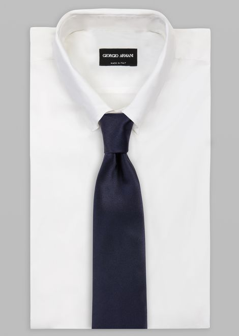 Silk tie with Giorgio Armani signature