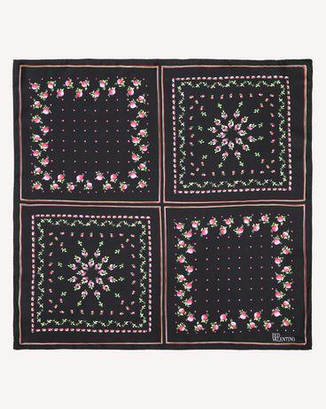 REDValentino Rose Garden printed Silk Twill foulard