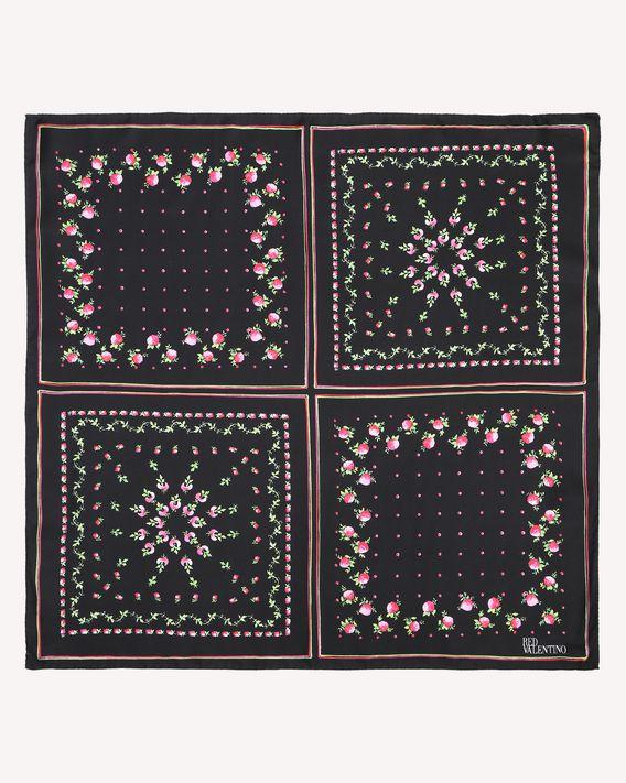 REDValentino Rose Garden print silk twill foulard