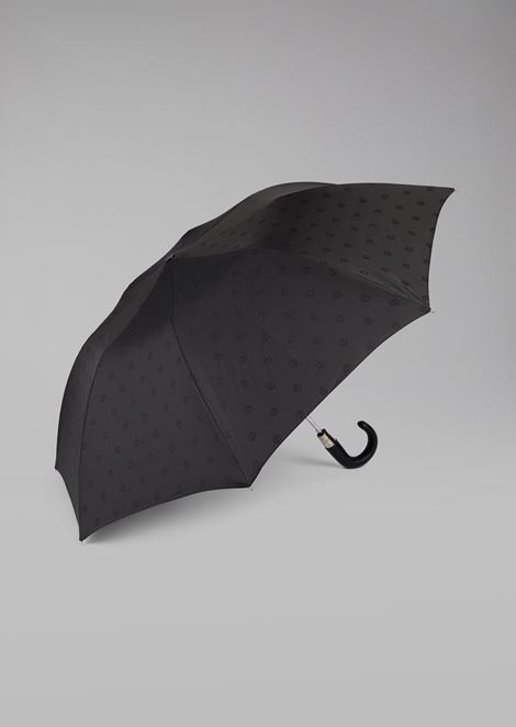Automatic umbrella with all-over logo pattern