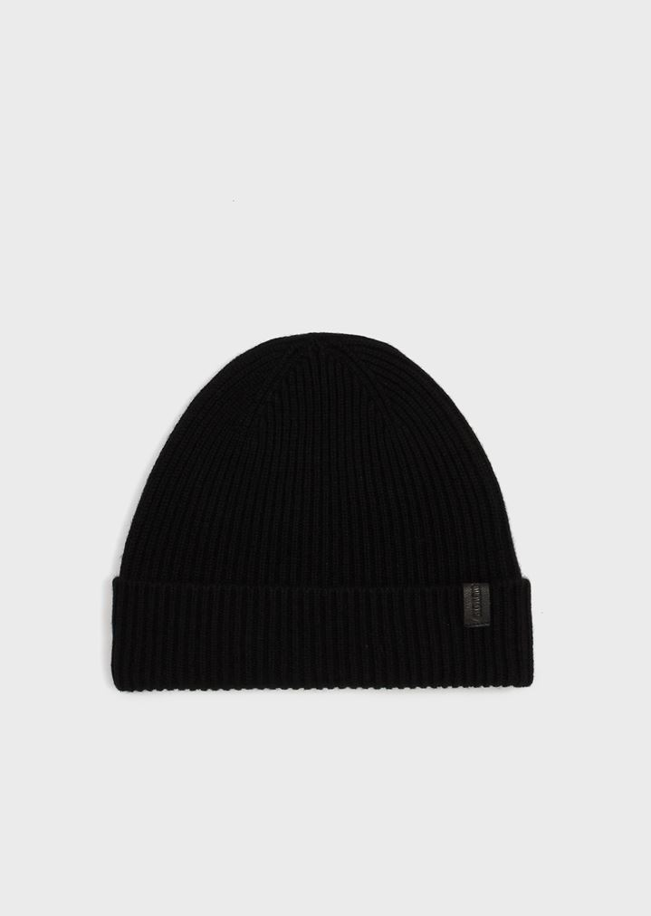 Cappello cuculo in puro cashmere a costa inglese  7c6a0f140110