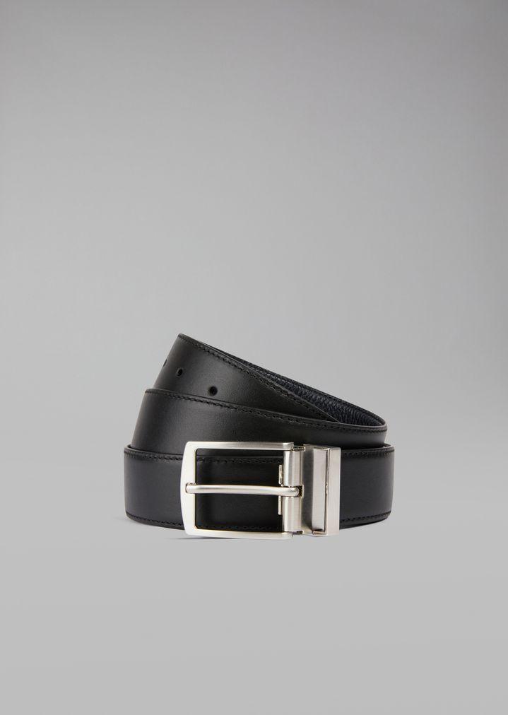 última selección de 2019 disfrute del envío de cortesía oferta especial Cinturón de piel granulada con trabilla de metal