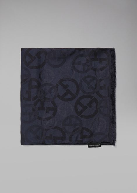 Scarf in jacquard fabric with GA logos