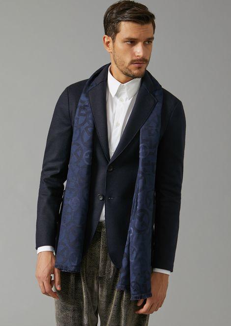 Scarf in jacquard fabric with GA logos