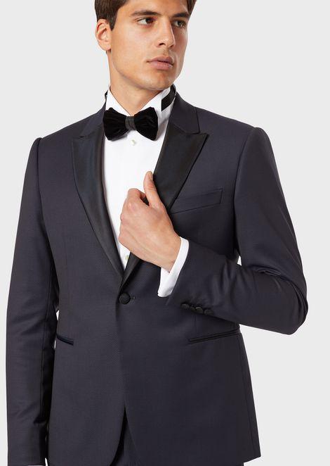Satin bow tie with velvet bow