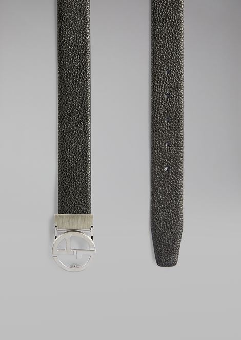 Micro Pattern Leather Belt