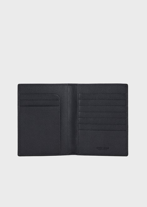 Passport holder in grained calfskin