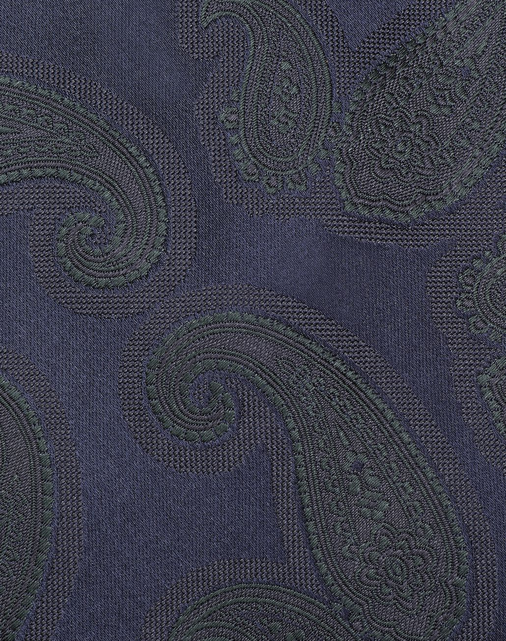 BRIONI Midnight Blue and Green Paisley Tie Tie [*** pickupInStoreShippingNotGuaranteed_info ***] e