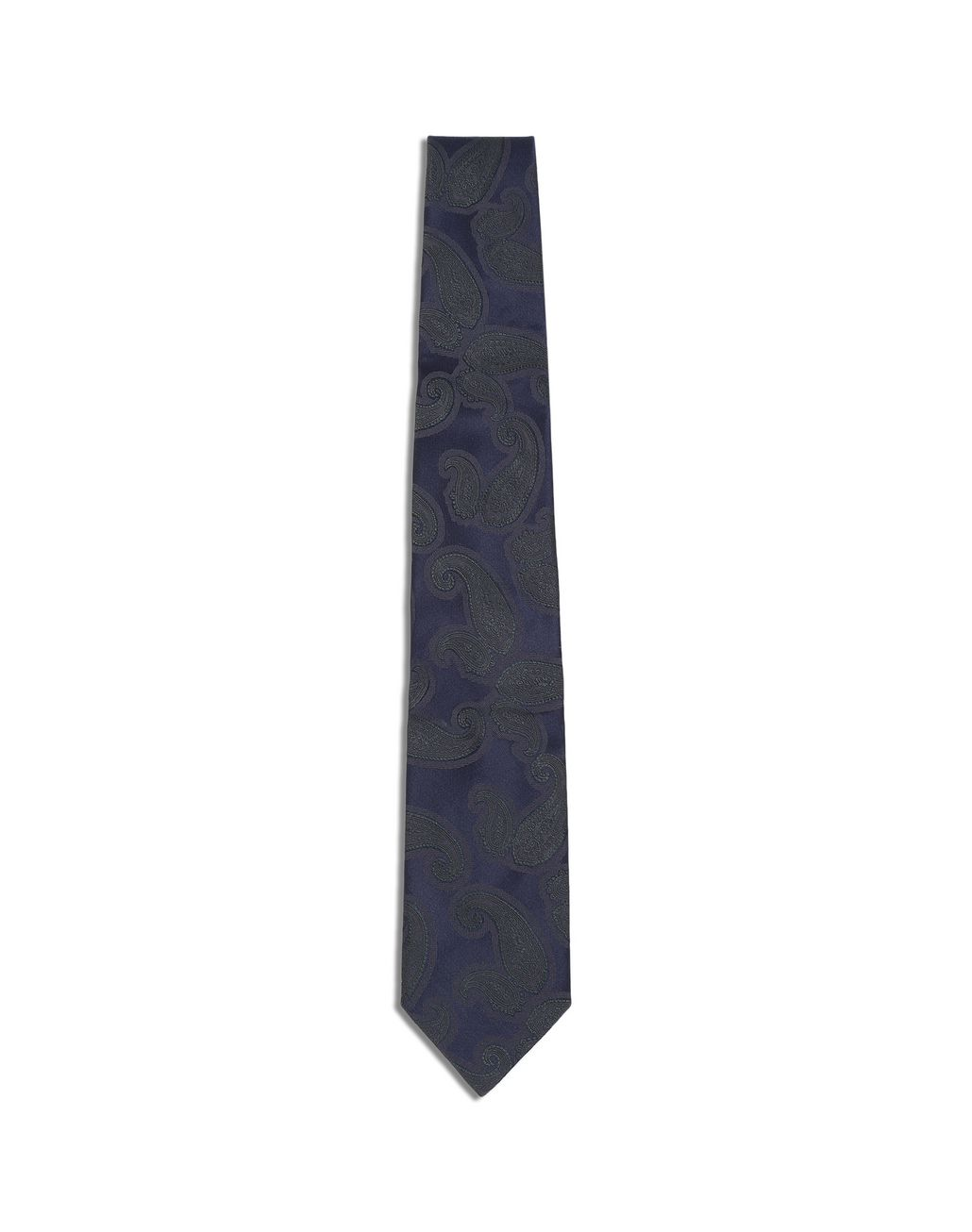 BRIONI Midnight Blue and Green Paisley Tie Tie [*** pickupInStoreShippingNotGuaranteed_info ***] f