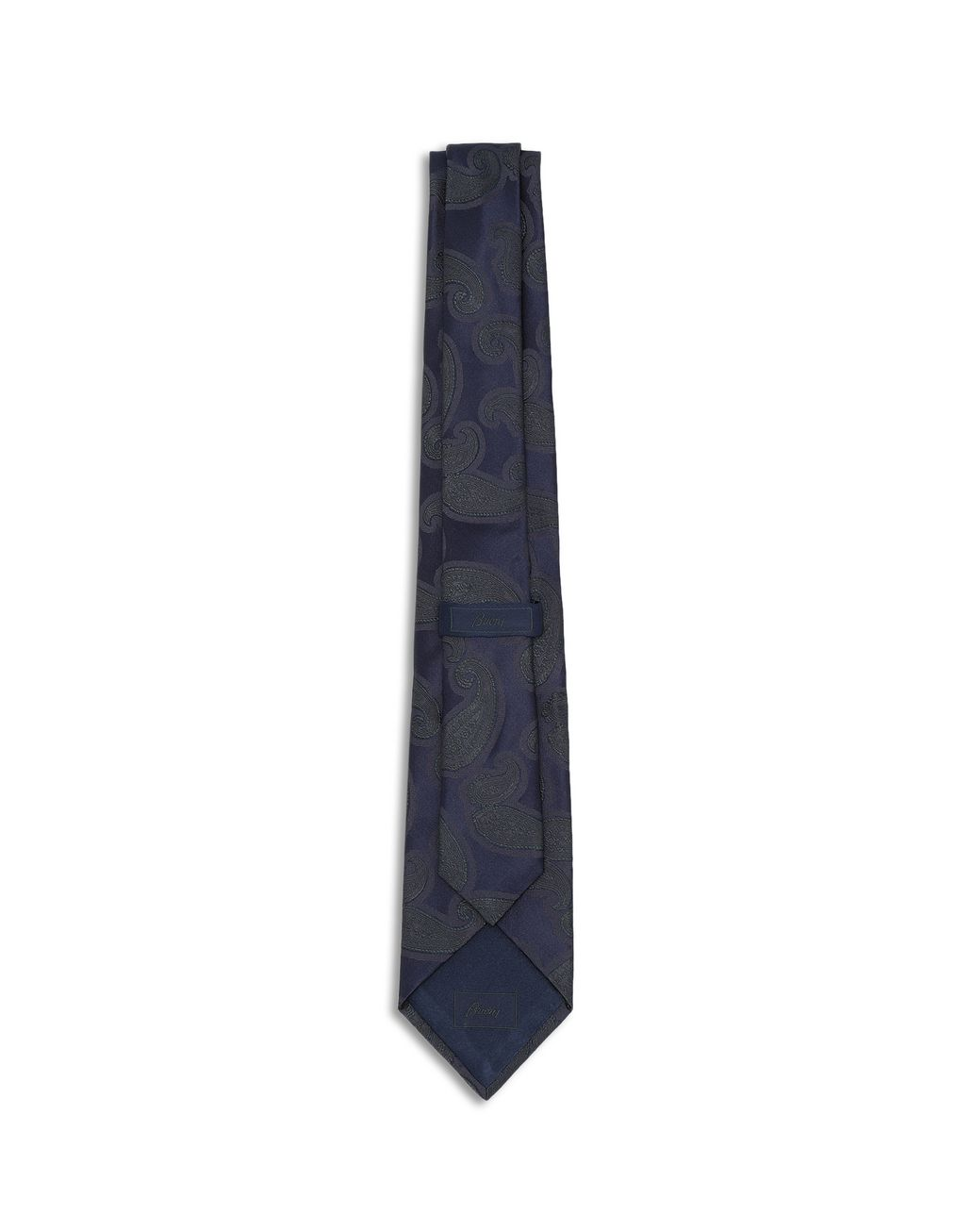 BRIONI Midnight Blue and Green Paisley Tie Tie [*** pickupInStoreShippingNotGuaranteed_info ***] r