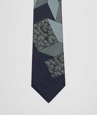 MIDNIGHT BLUE/SKY BLUE SILK TIE