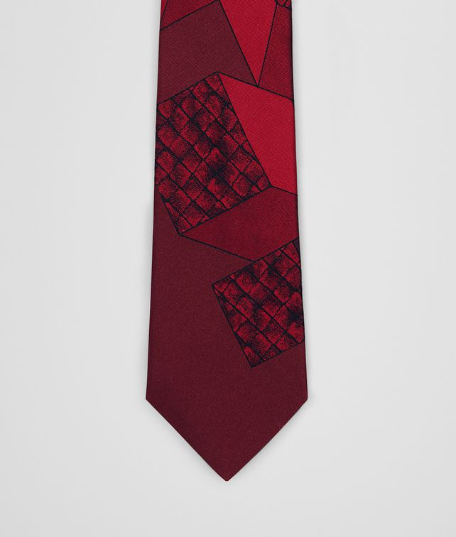BOTTEGA VENETA AMARANTH/RED SILK TIE Tie [*** pickupInStoreShippingNotGuaranteed_info ***] fp