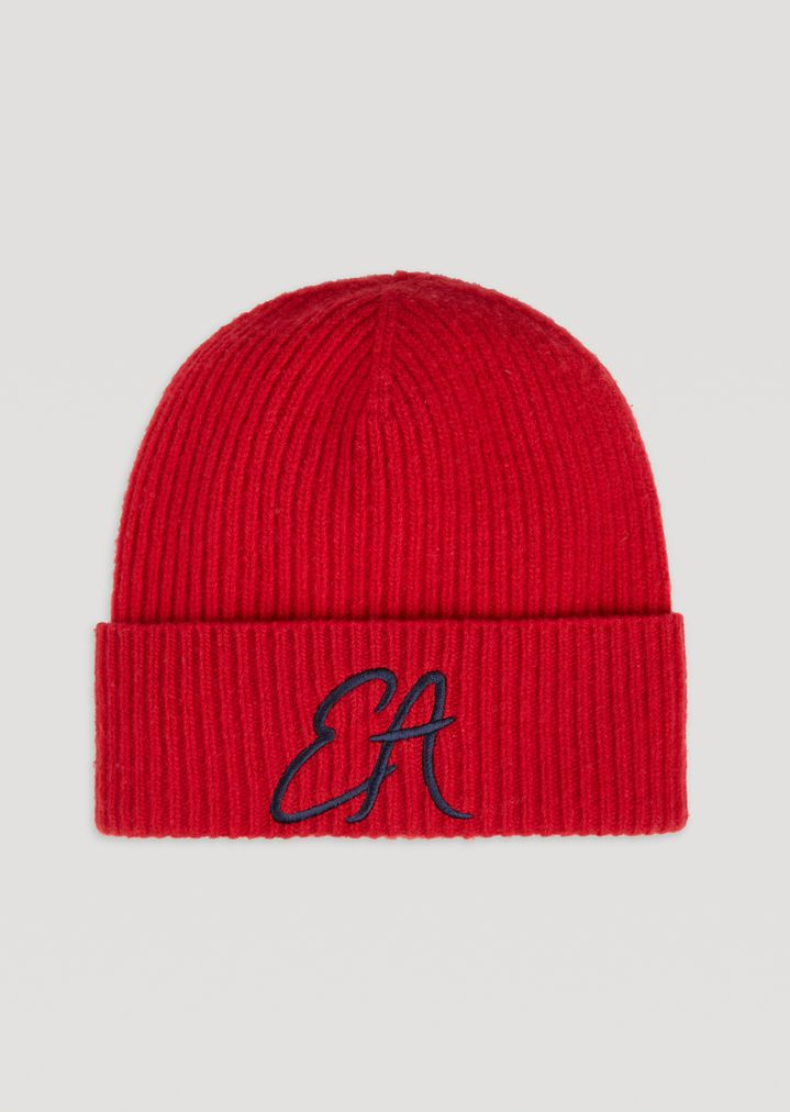974617484fb Ribbed knit hat with embroidered EA logo