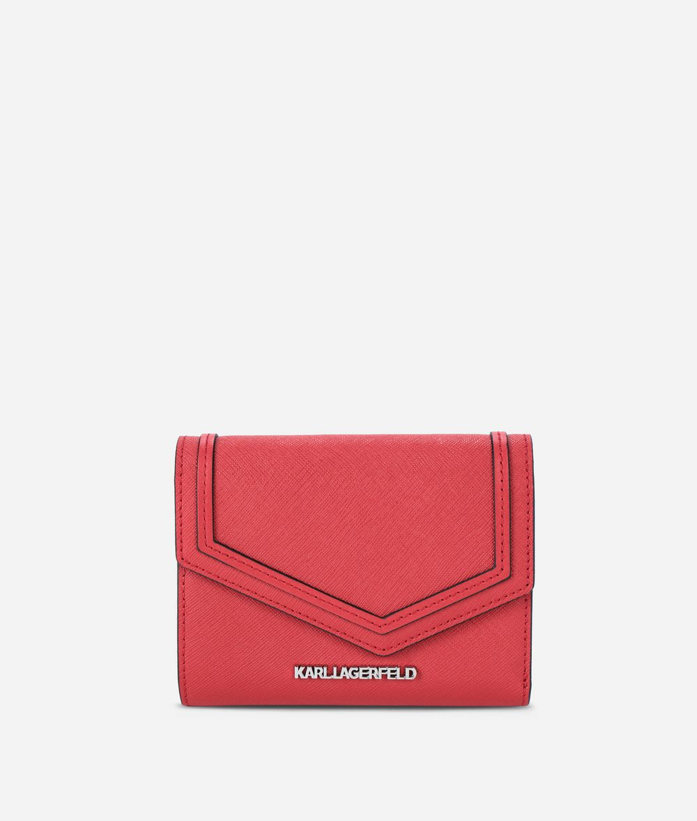 KARL LAGERFELD K/Rocky Leather Fold Wallet Wallet Woman f