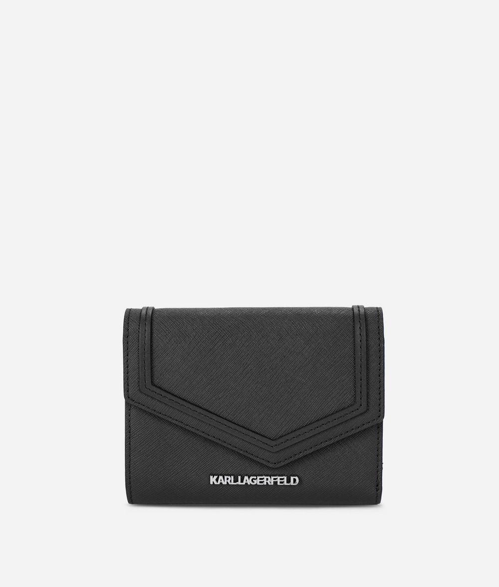 KARL LAGERFELD K/Rocky Leather Fold Wallet Wallet Woman f