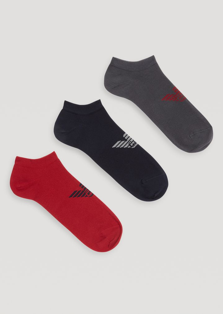 Juego de tres pares de calcetines con logotipo central | Hombre ...